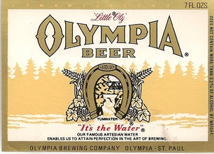 Sign olympia beer Olympia Brewing