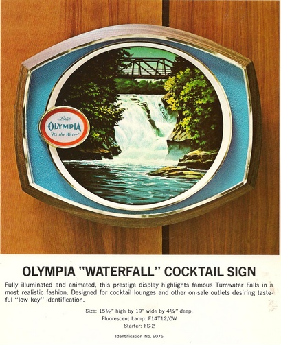 Olympia Brewery Collectibles Lighted SIgns